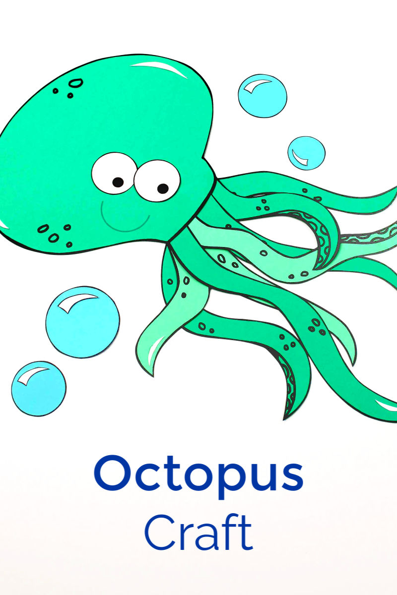 Printable Octopus Craft for Kids #Octopus #OctopusCraft #PrintableCraft #SeaLifeCraft