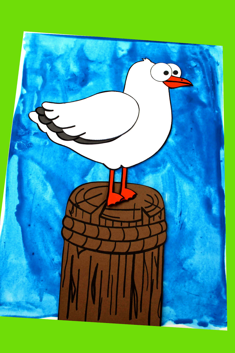 pin printable seagull craft