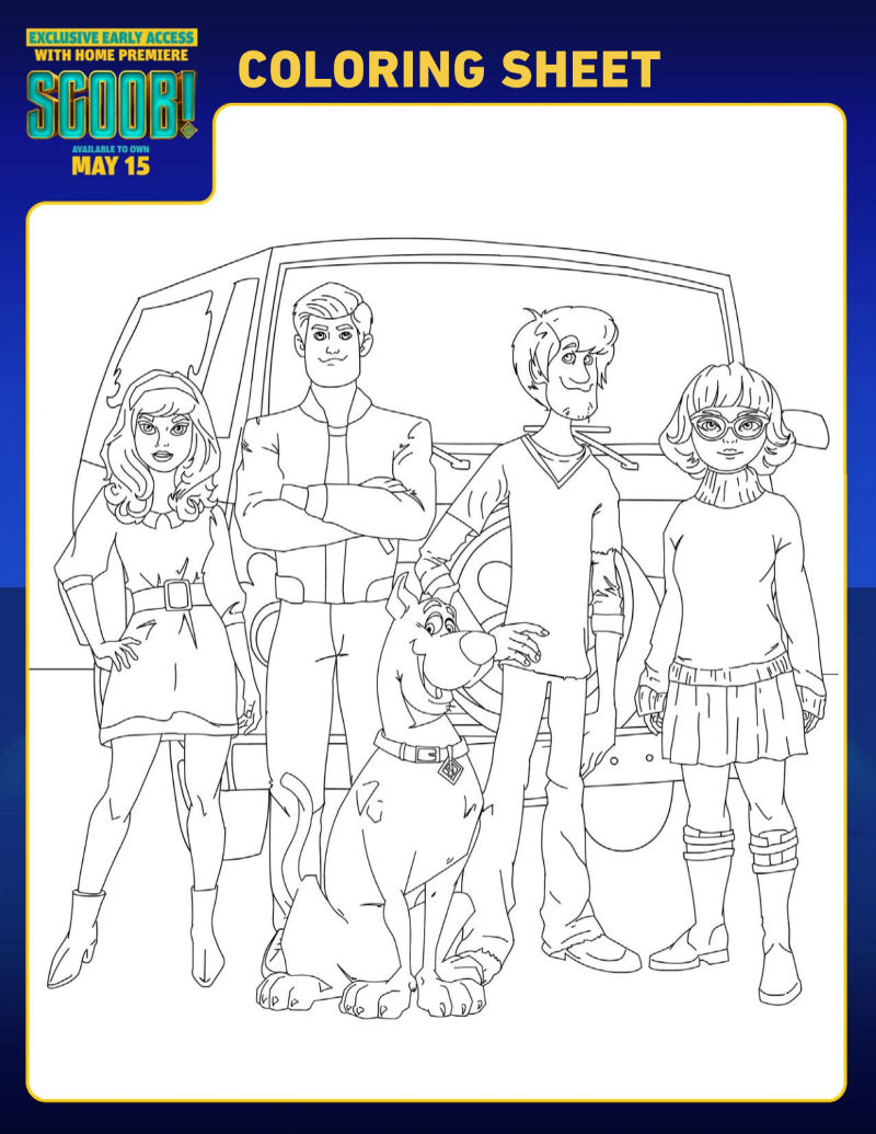 Free Printable. Scoob Characters Coloring Page #Scoob #ScoobyDoo #Shaggy