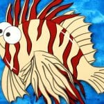 Free Printable Paper Lionfish Craft