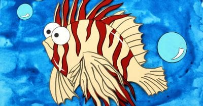 feature paper lionfish craft