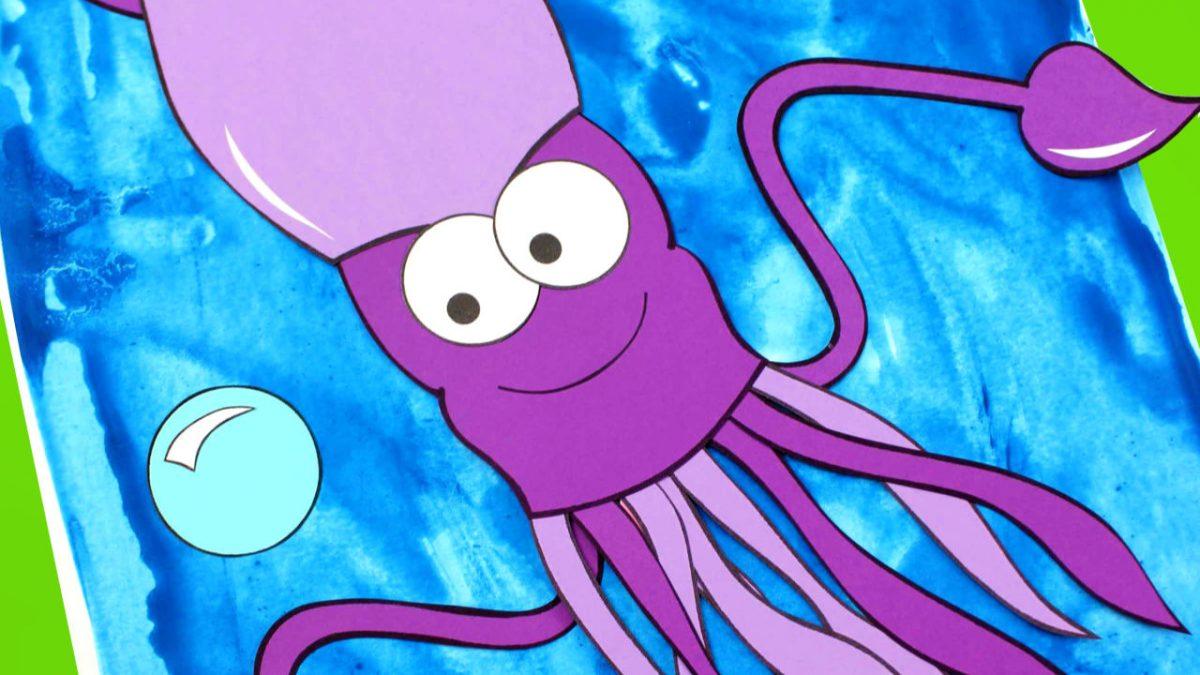 feature paper squid craft
