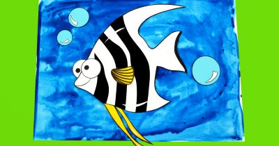 feature printable angelfish craft
