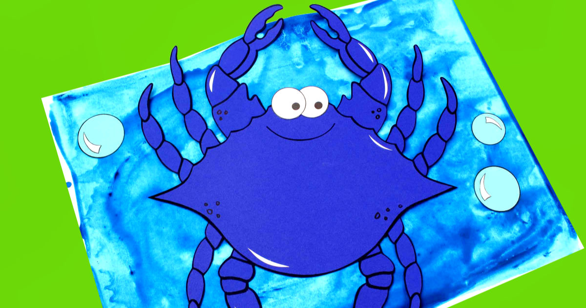 feature printable blue crab craft