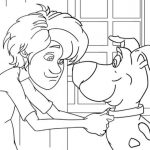 Scooby Doo and Shaggy Coloring Page