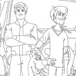 Free Printable. Scoob Characters Coloring Page
