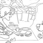 Free Printable Scooby Doo Picnic Coloring Page