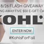 Flash Giveaway! Kohl's Gift Cards