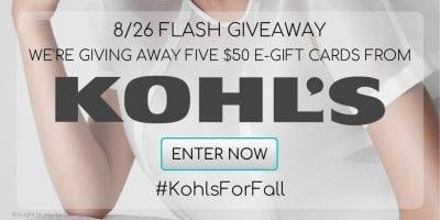 kohls giveaway fall