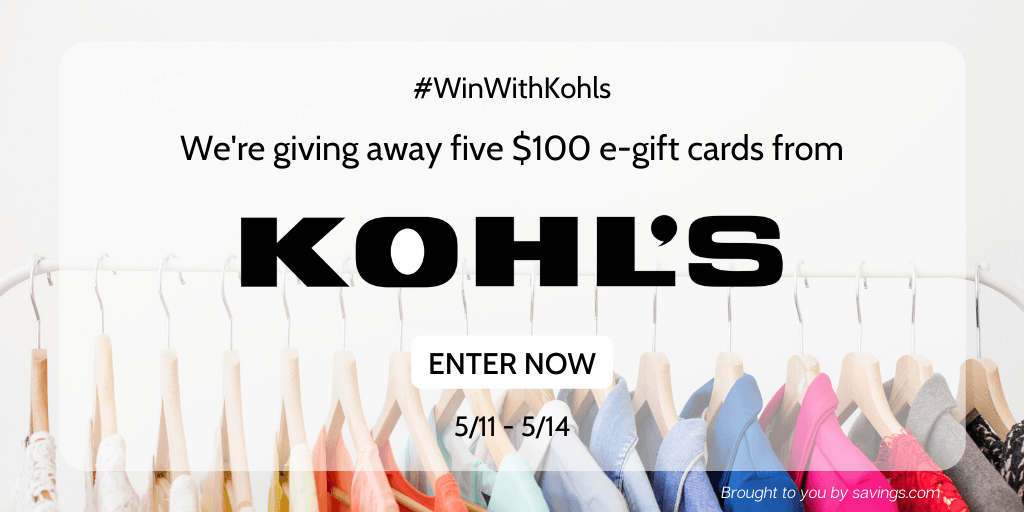 Easy Entry Kohl's Gift Card Giveaway