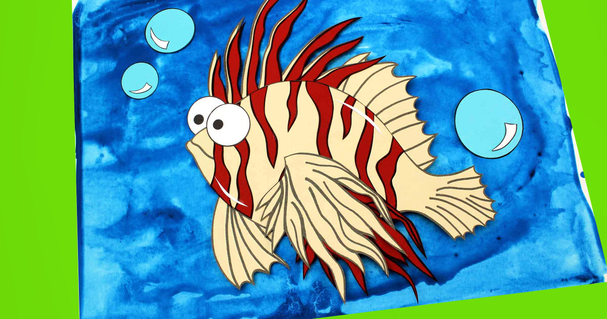 paper lionfish craft