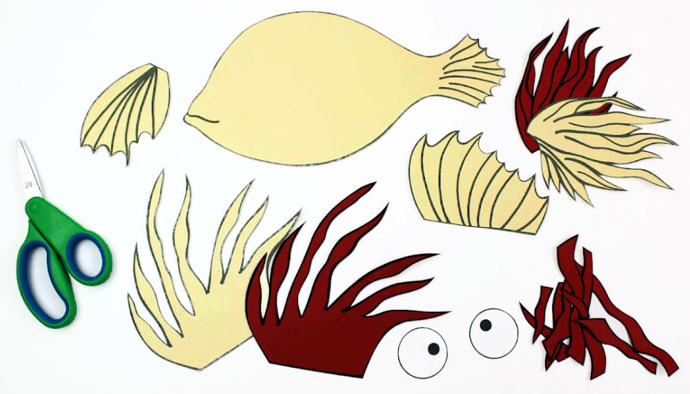 pieces for lionfish craft