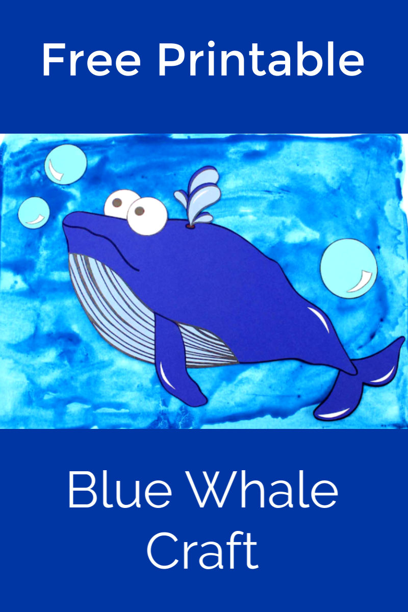 Free Printable Blue Whale Craft #BlueWhale #WhaleCraft #OceanCraft #Whale