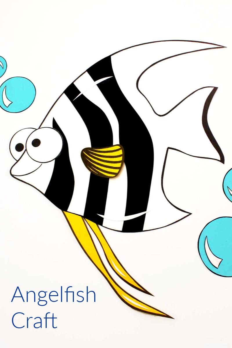 pin kids angelfish craft