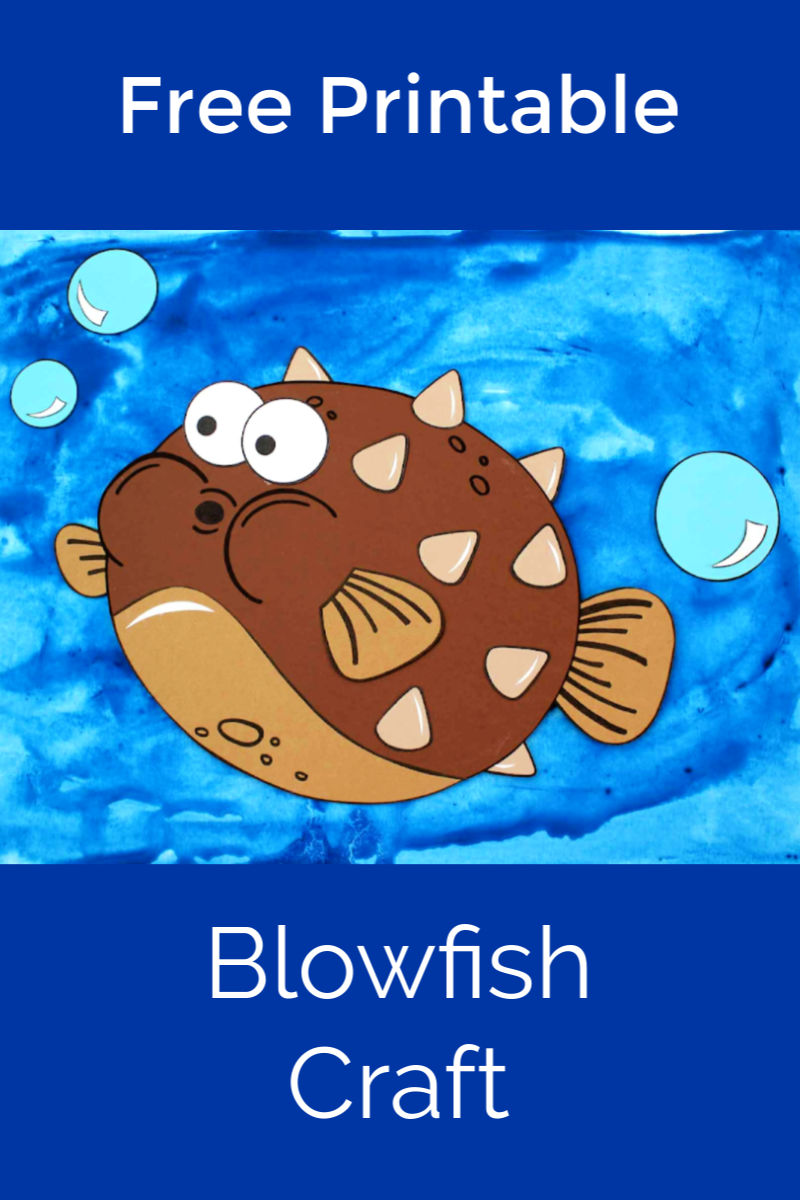 Free Printable Pufferfish Craft for Kids #pufferfish #blowfish #underthesea #oceancraft #fishcraft