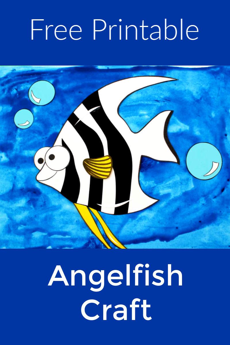Free Printable Paper Angelfish Craft #angelfish #FishCraft #AngelfishCraft #OceanCraft