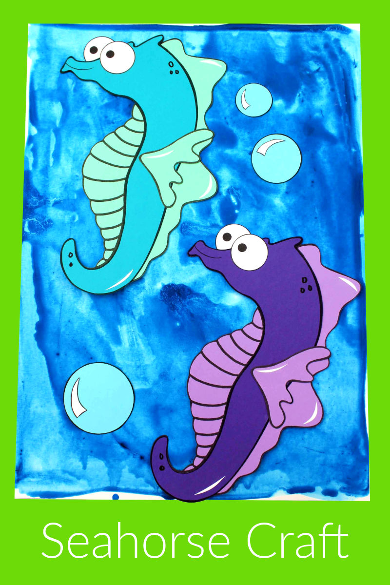pin printable seahorse craft