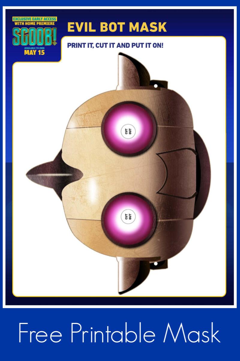 Printable Scoob Evil Bot Mask Craft #Scoob #ScoobyDoo #EvilBot