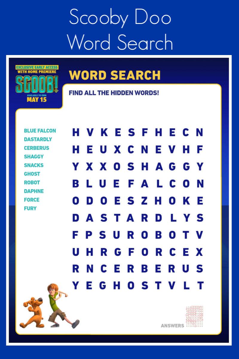 Free Printable Scooby Doo Word Search #Scoob #ScoobyDoo #ScoobMovie