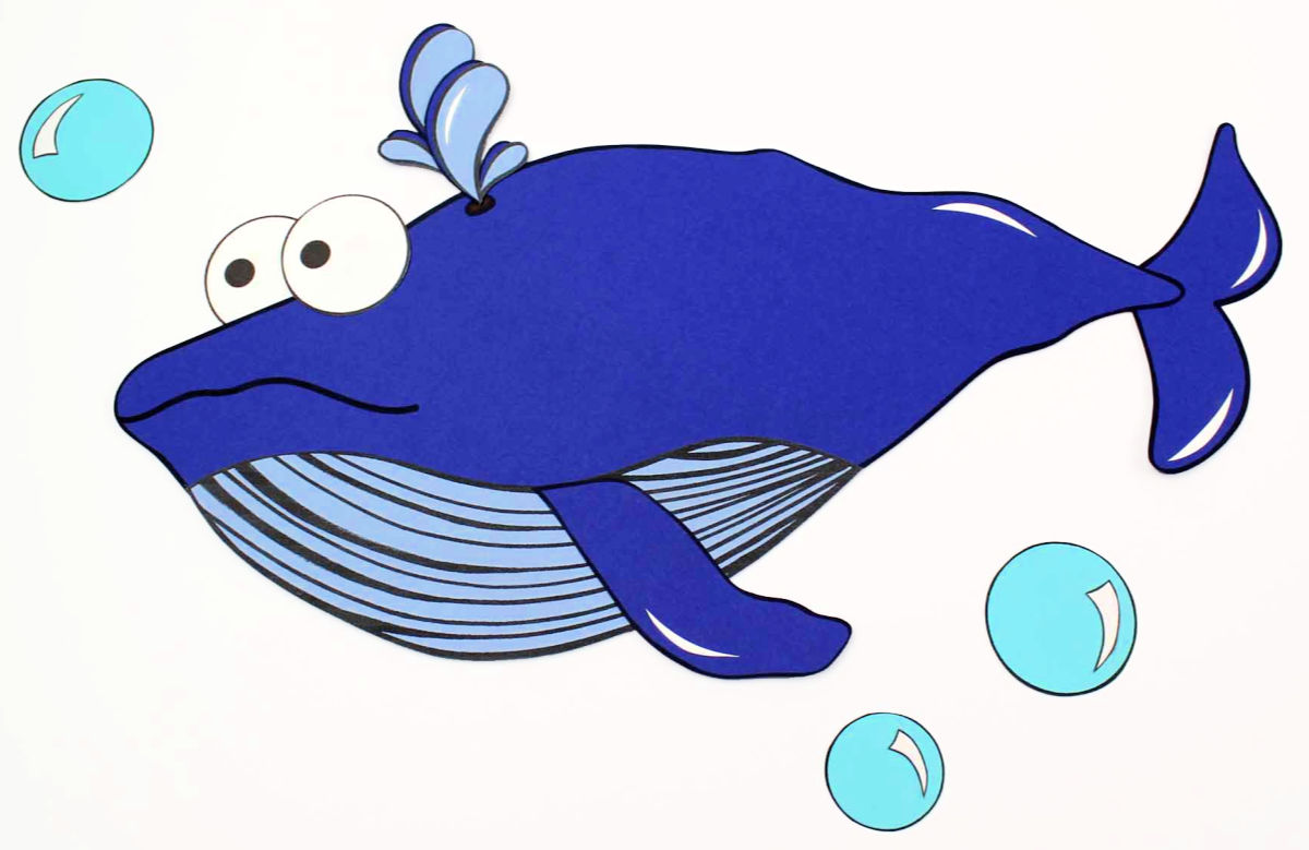 printable blue whale craft