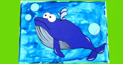 printable whale paper craft