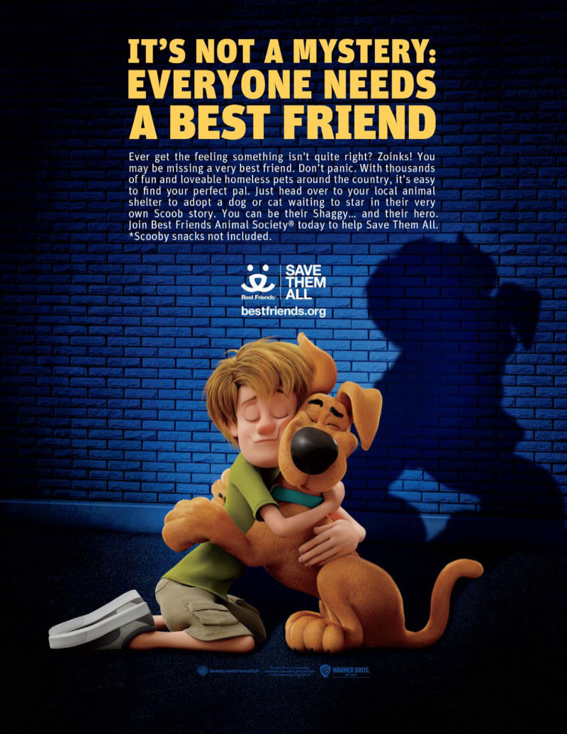 scoob movie pet charity