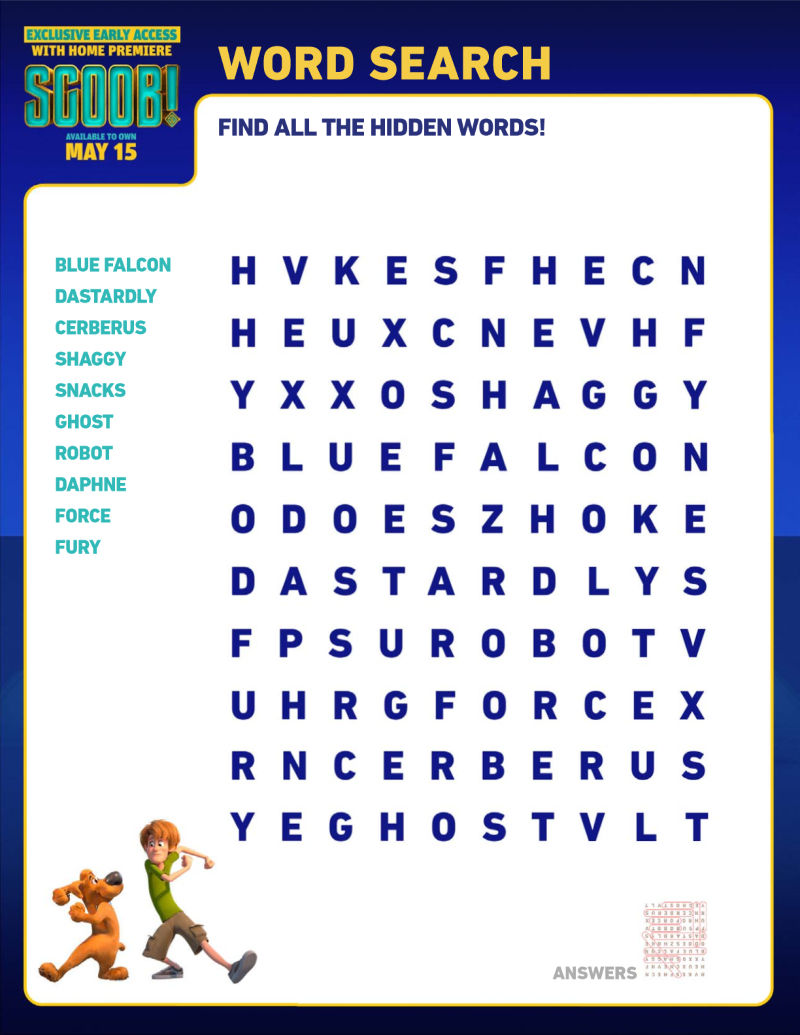 scoob word search