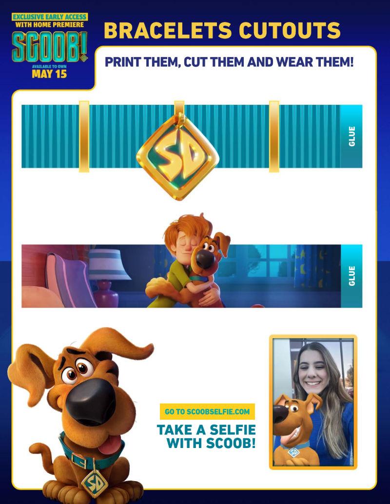 Printable Scooby Doo Bracelet Craft #Scoob #ScoobyDoo #ScoobyDooCraft