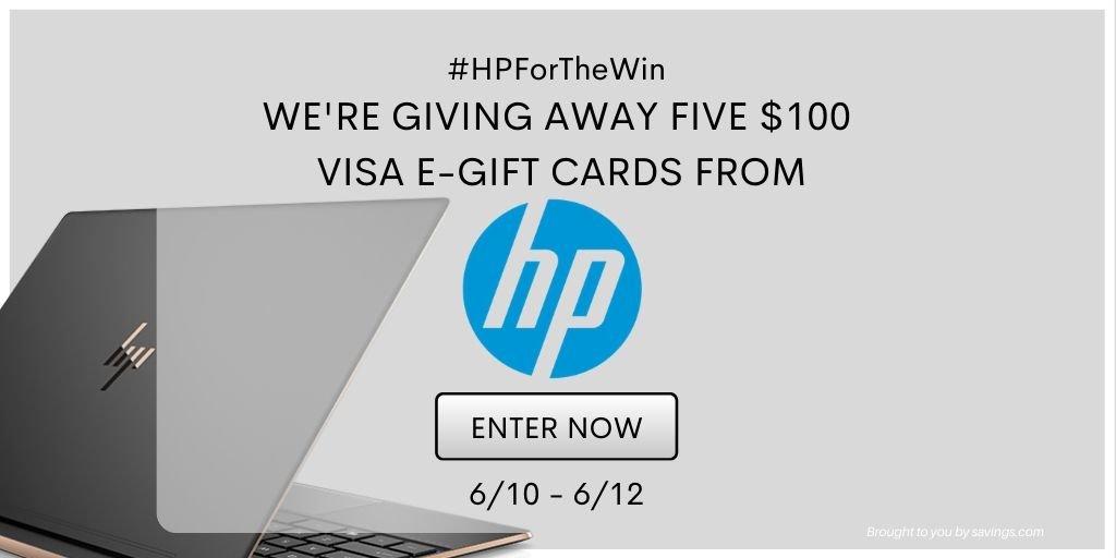 HP VISA Gift Card Giveaway