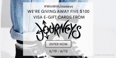 Journeys visa gift card giveaway
