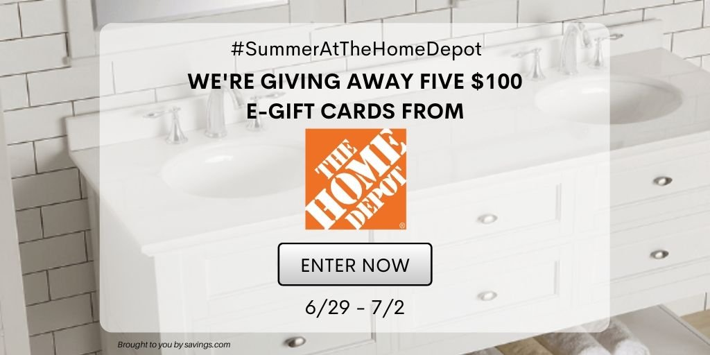 Easy Entry Home Depot Gift Card Giveaway