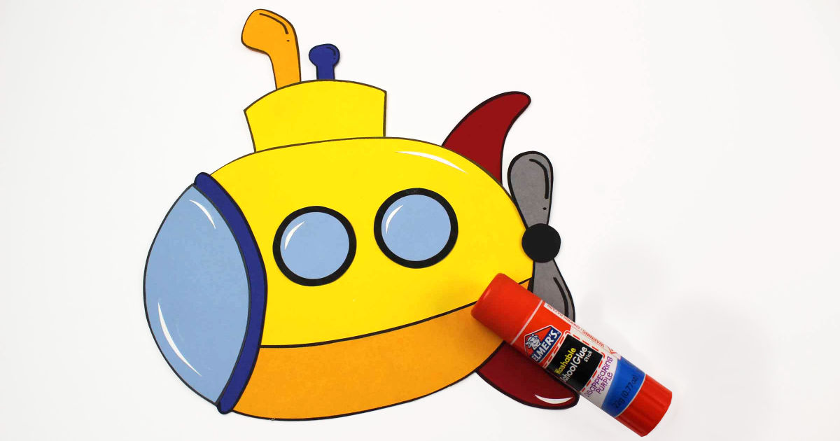 paper yellow submarine craft