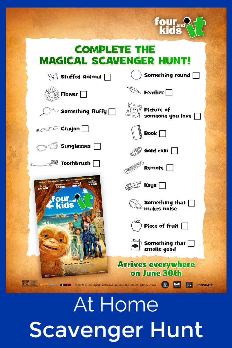 pin at home scavenger hunt printable