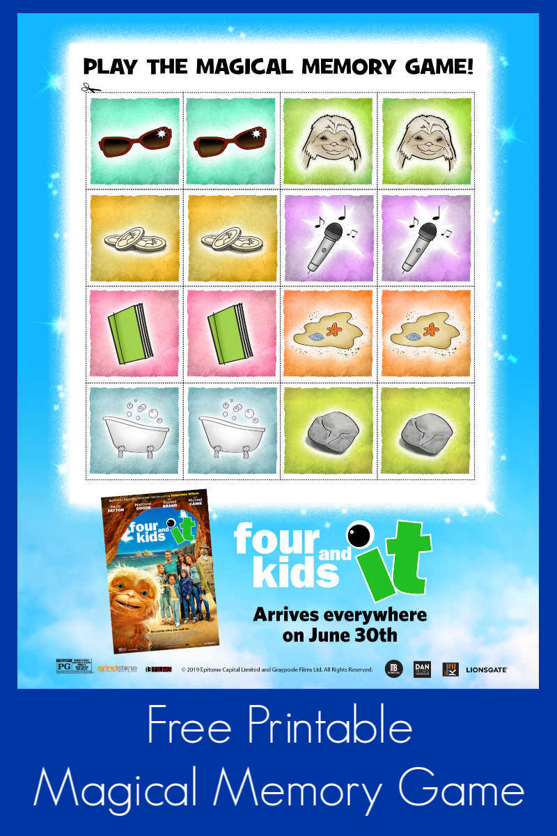 Magical Memory Game from Four Kids and It #FourKidsAndIt #FourKidsAndItMovie #FreePrintable