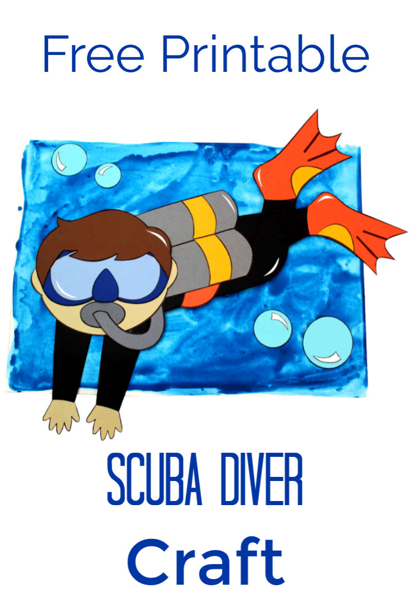 Printable Boy Scuba Diver Craft #ScubaCraft #UnderTheSea #ScubaDiver #ScubaDiving #FreePrintable #PrintableCraft