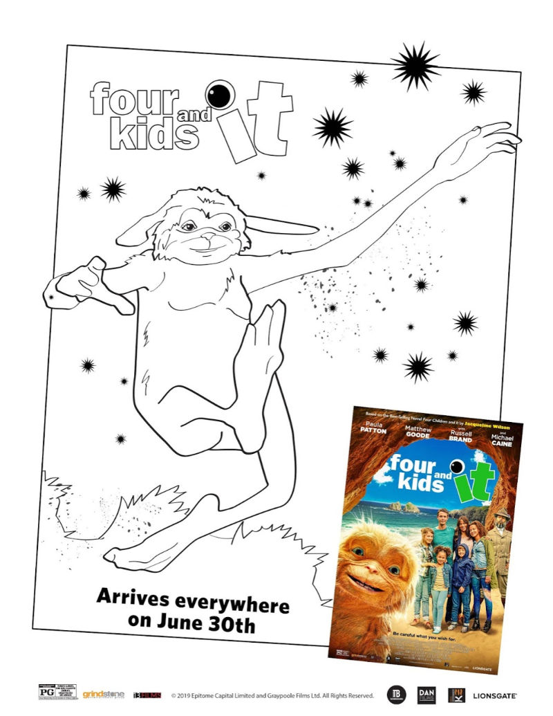 Four Kids and It Coloring Page#FourKidsAndIt #FourKidsAndItMovie #FreePrintable #PrintableColoringPage