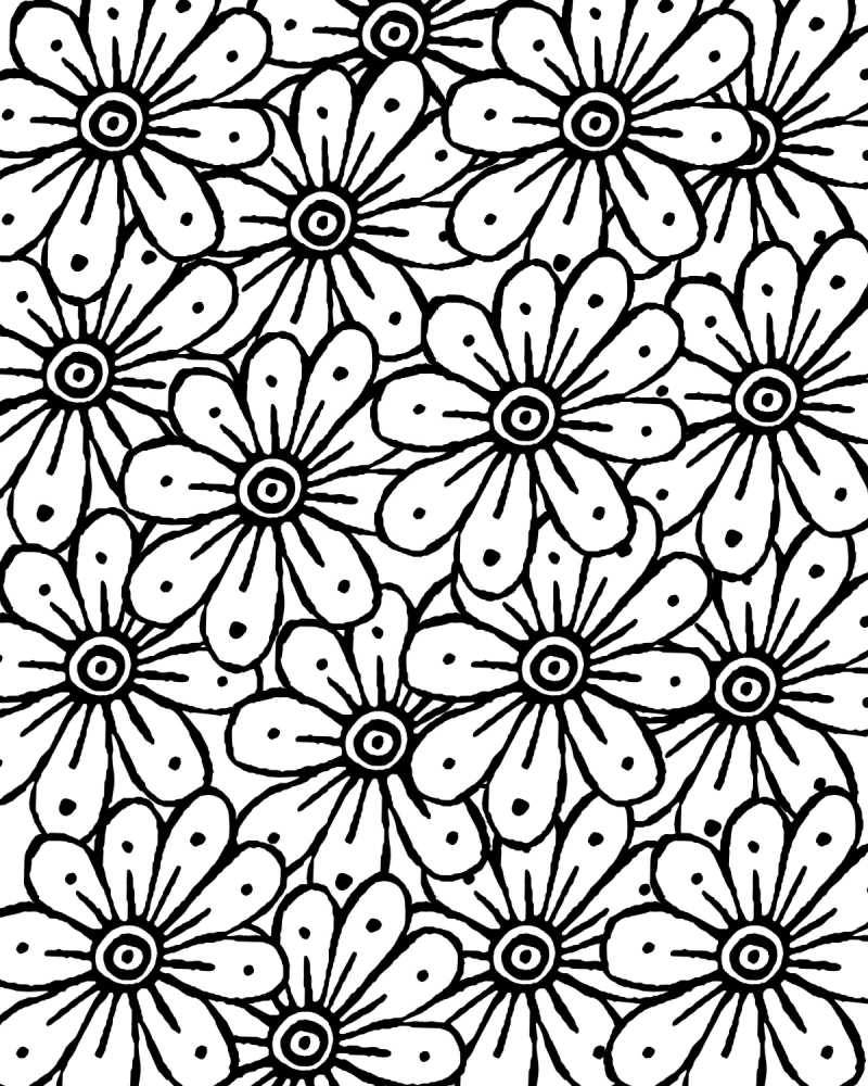 full marigold coloring page
