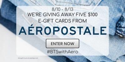 aeropostale gift card giveaway
