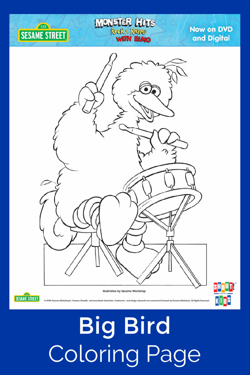 Big Bird Coloring Page #BigBird #SesameStreet #FreePrintable #ColoringPage