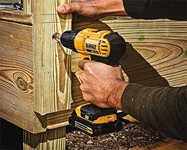 dewalt drill in action