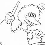 Free Printable Big Bird Coloring Page