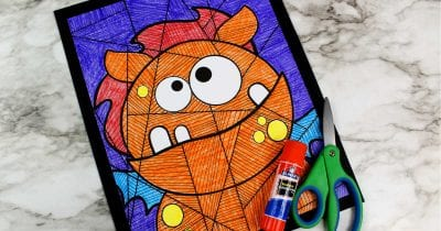 feature silly monster coloring page