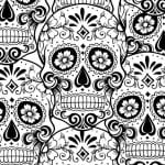 Free Printable Sugar Skull Adult Coloring Page