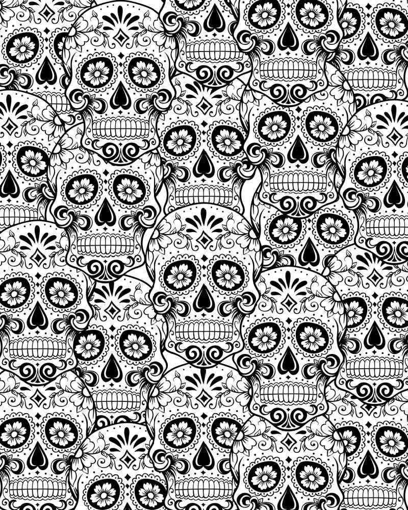 Sugar Skull Adult Coloring Page #AdultColoringPage #FreeColoringPage #DayOfTheDead #DiaDeLosMuertos