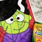 Bride of Frankenstein Craft for Halloween