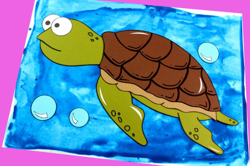 paper sea turtle