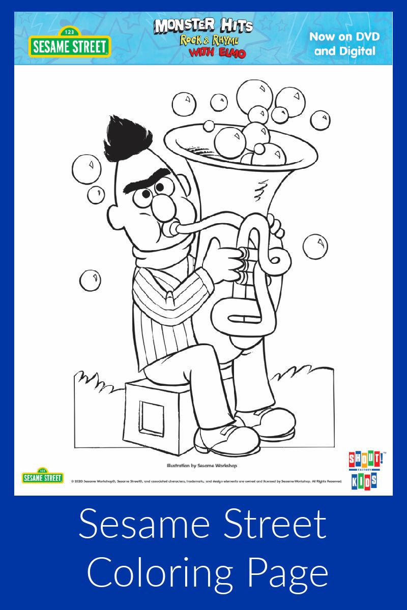 Bert Coloring Page #SesameStreet #Bert #FreePrintable #ColoringPage