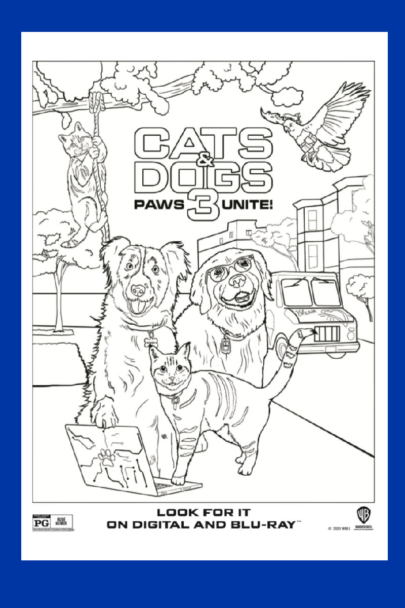 Cats and Dogs Coloring Page - Paws Unite!