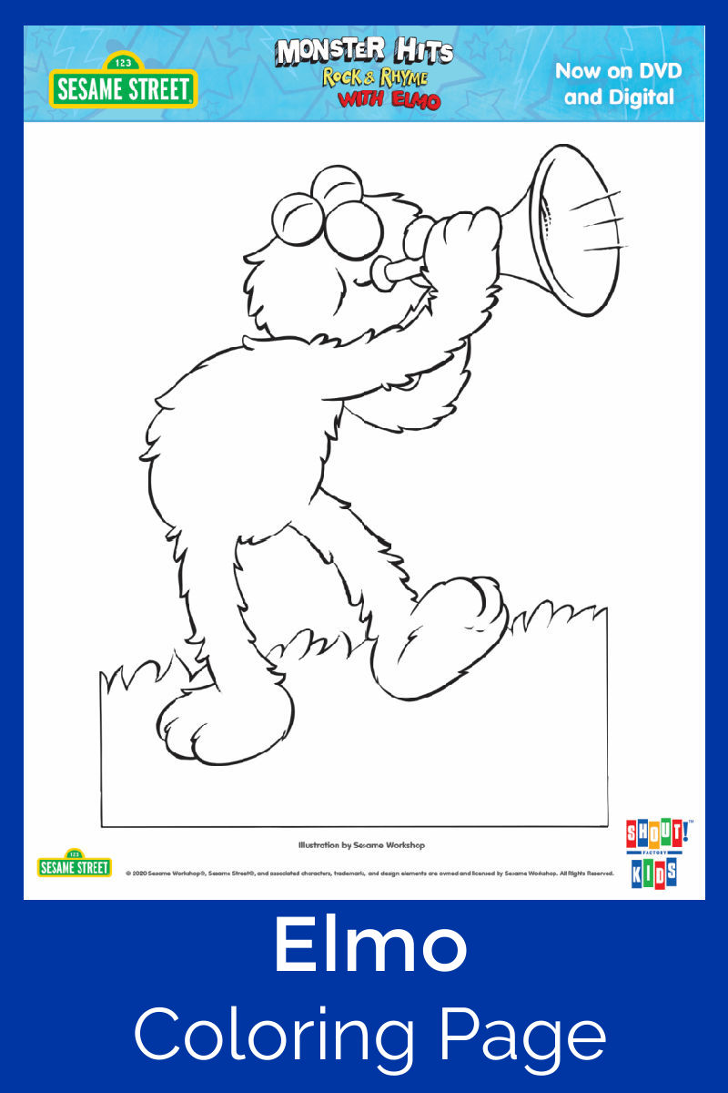 pin elmo coloring page