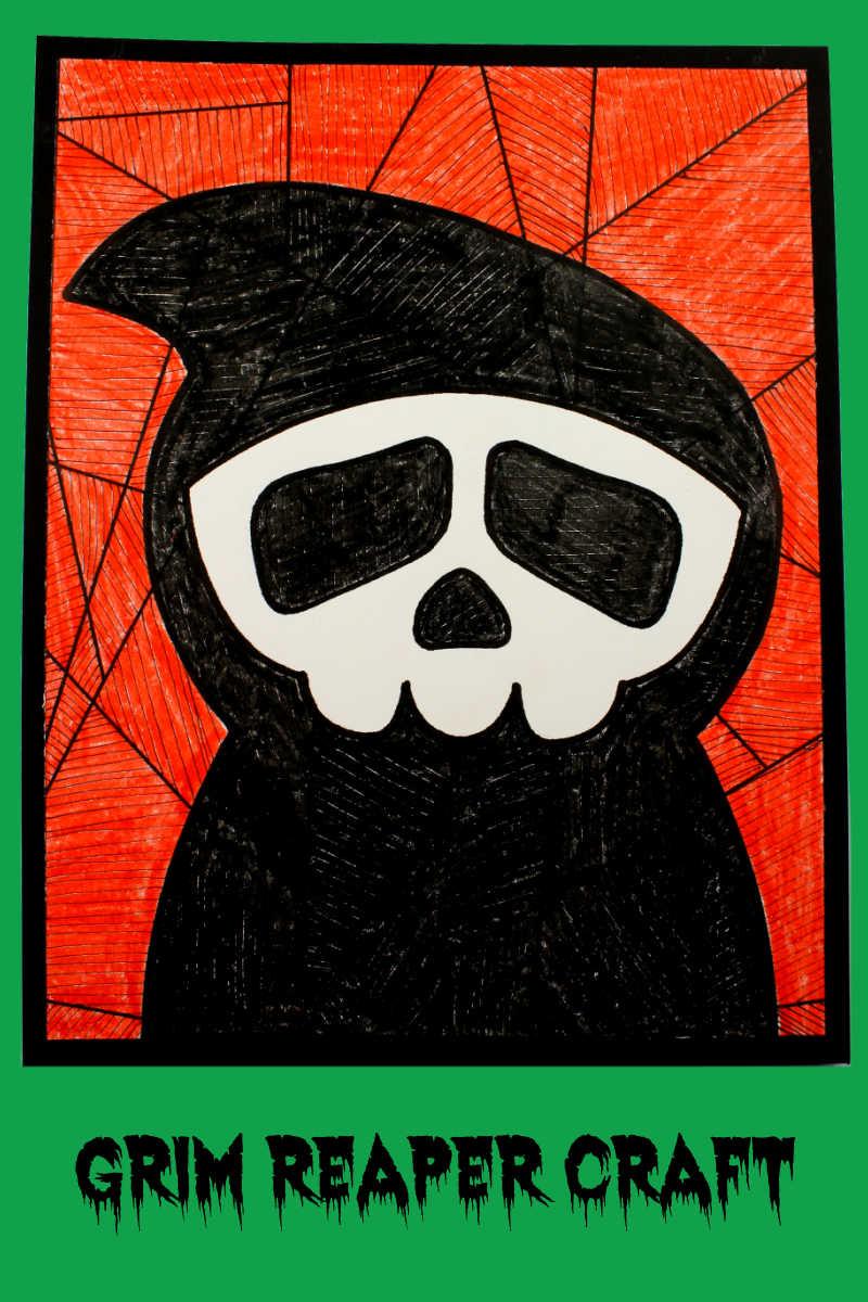 Grim Reaper Craft for Halloween